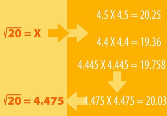 2. Calcula la raíz cuadrada de cualquier número positivo